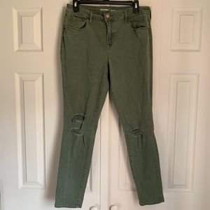 Old Navy Rockstar Green Jeans Size 12